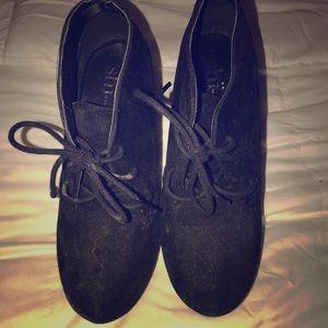 Black Shi booties/wedges